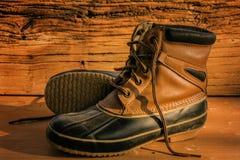 botas de caminhada de couro Fotos de Stock Royalty Free
