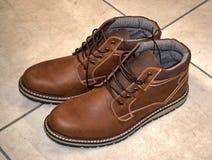 Botas de chukka bronzeados imagem de stock