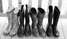Botas de chuva Fotografia de Stock Royalty Free