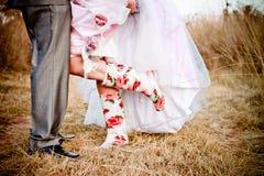 Botas de la boda Imagen de archivo libre de regalías