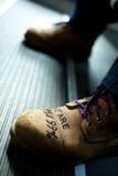 Botas de la protesta Foto de archivo libre de regalías