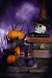 Botas de las brujas y sombrero de las brujas Foto de archivo