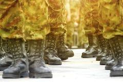 Botas de los militares del ejército Fotos de archivo