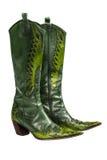 Botas de vaqueiro verdes Imagem de Stock