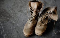 Botas del Ejército de los EE. UU. Foto de archivo libre de regalías
