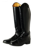 Botas do adestramento da equitação isoladas no branco fotografia de stock royalty free