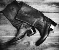 Botas do estilo antigo imagem de stock