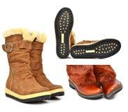 Botas do inverno da forma Foto de Stock Royalty Free