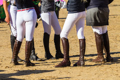 Botas dos cavaleiros equestres Fotos de Stock Royalty Free