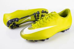 Botas Nike Soccer Foto de Stock