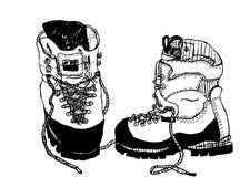 Botas que caminan alpinas Imagenes de archivo