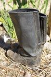 Botas velhas de encerado Imagens de Stock