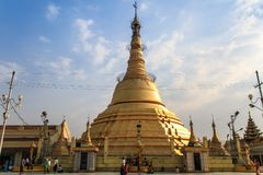 Botataung Pagoda at the end of the day, Yangon, Myanmar Royalty Free Stock Photography
