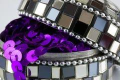 Boîte à bijoux de mosaïque Photographie stock