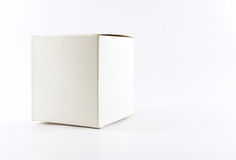 Boîte carrée blanche Photographie stock libre de droits