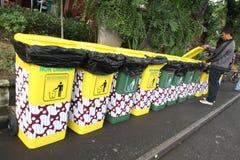 Bote de basura Foto de archivo libre de regalías