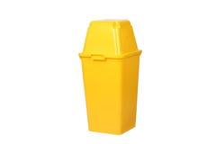 Bote de basura amarillo Foto de archivo