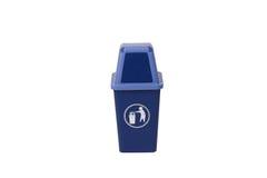 Bote de basura azul Fotografía de archivo libre de regalías