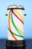 Bote de basura del metal blanco con el pedal representación 3d Imagen de archivo libre de regalías