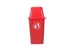 Bote de basura rojo Fotos de archivo