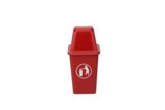Bote de basura rojo Imagen de archivo libre de regalías