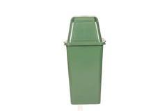 Bote de basura verde Imagen de archivo