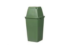 Bote de basura verde Fotografía de archivo libre de regalías