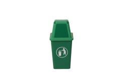 Bote de basura verde Imagenes de archivo
