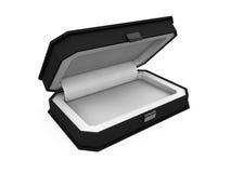 Boîte de bijou sur le rendu blanc du fond 3D Photographie stock