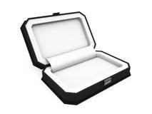 Boîte de bijou sur le rendu blanc du fond 3D Images stock