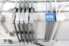 Boîte de contrôle électrique Photos libres de droits
