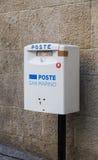 Boîte de courrier du Saint-Marin Image libre de droits
