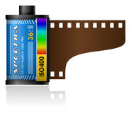 boîte de film de 35mm Photographie stock