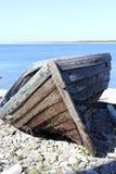 Bote de remos de madera Imagenes de archivo
