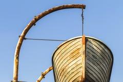 Bote de salvamento de madera de la nave Imagen de archivo libre de regalías