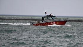 Bote de salvamento do departamento dos bombeiros de Chicago Fotos de Stock Royalty Free