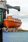 Bote de salvamento o bote salvavidas Imágenes de archivo libres de regalías