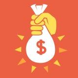 Bote del dinero Fotos de archivo