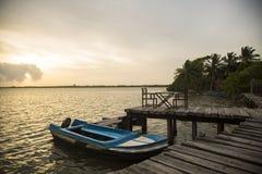 Bote di Negombo Sri Lanka Immagini Stock Libere da Diritti