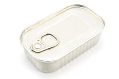 Boîte en fer blanc des sardines Images libres de droits