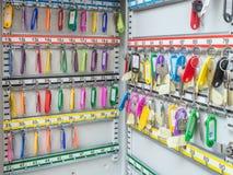 Boîte en métal avec des clés Photo libre de droits