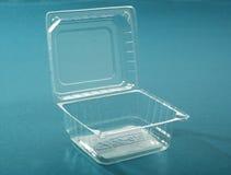 Boîte en plastique transparente Photographie stock libre de droits