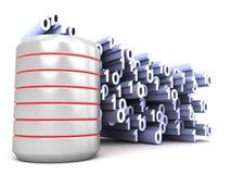 Boîte métallique de données binaires Images stock