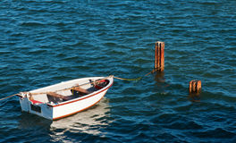 Bote na lagoa de Klein Brak Imagem de Stock Royalty Free