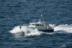Bote patrulla británico de la policía en Gibraltar Imagen de archivo libre de regalías
