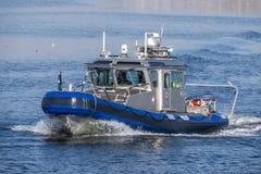 Bote patrulla de la policía del estado de Massachusetts Fotografía de archivo libre de regalías