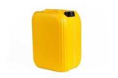 Bote plástico para el aceite de la máquina Imágenes de archivo libres de regalías