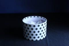 Boîte ronde par cadeau Photographie stock