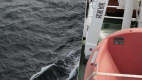 Bote salvavidas almacen de metraje de vídeo