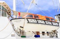 Bote salvavidas a bordo de la nave Imagen de archivo